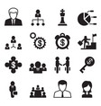 business management human resource icons set vector image