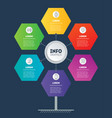 business presentation or infographics concept vector image vector image