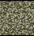 camouflage style knitted pattern in light green vector image vector image