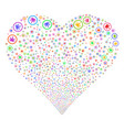 cannabis fireworks heart vector image vector image