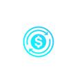 cashback money refund icon vector image vector image