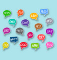 chat bubbles collection text expressions vector image vector image