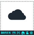 cloud icon flat vector image vector image