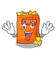 crazy chips isolated on a collection mascot vector image vector image