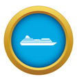 cruise liner icon blue isolated vector image vector image