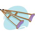 crutches vector image