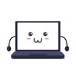 cute laptop kawaii vector image vector image