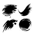different set ink blot vector image