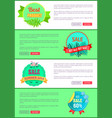 discount 30 off summer big sale set promo labels vector image vector image