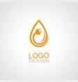 drop water electricity logo vector image vector image