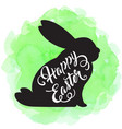 easter background with silhouette of rabbit vector image vector image
