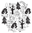 Ecology office business round composition black vector image