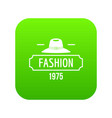 fashion hat icon green vector image vector image