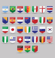 flags world set national symbol international vector image