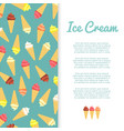 flat ice cream banner design vector image