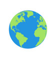 flat planet earth icon a world globe isolated vector image