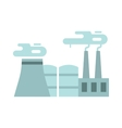 Flat thermoelectric power station flat vector image vector image
