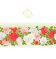 floral border seamless background with blooming vector image