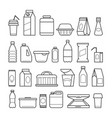 food package line icons vector image vector image