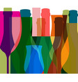 glasses to alcohol vector image vector image