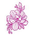 graphical flower vector image vector image