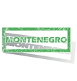 Green outlined Montenegro stamp vector image