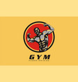 gym power training design logo for gym vector image vector image