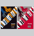 hands and piano keys vector image vector image