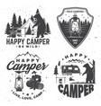 happy camper concept for vector image vector image