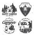 happy camper concept vector image vector image