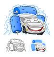 happy car cartoon character design vector image vector image