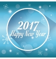 happy new year 2017 greeting card snowy lights vector image