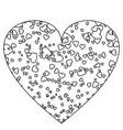 heart template icon love symbol valentine vector image vector image