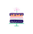 holiday cake hand drawn style vector image vector image