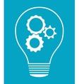idea design light bulb icon flat vector image vector image