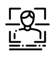 information about person when scanning icon vector image vector image