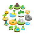 landscape isometric 3d icons vector image
