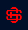 letter sg initial logo vector image vector image