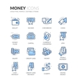 Line Money Icons vector image