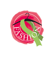 logo scarf on a hanger for fashion vector image vector image