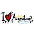 love argentina vector image vector image