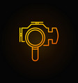 magnifying glass with check engine icon vector image vector image