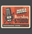 music studio microphone vinyl record saxophone vector image vector image