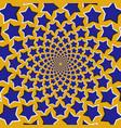 optical of stars fly apart circularly vector image vector image