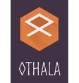 Othala rune of Elder Futhark in trend flat style vector image