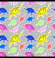 pattern dinosaurs 80s vector image