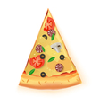 Pizza Cut Off Slice On White Background vector image vector image