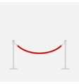 Red rope barrier stanchions turnstile Isolated vector image vector image