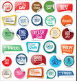 sale stickers and tags collection 3 vector image vector image