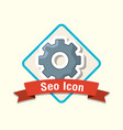 seo icons design vector image vector image